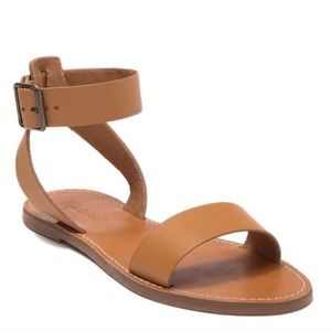 MADEWELL Boardwalk Ankle Strap Sandals size 10 tan